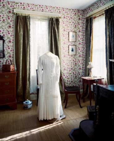 alone with ghost of emily dickinson dress