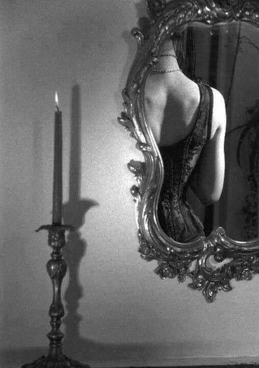 women in mirror