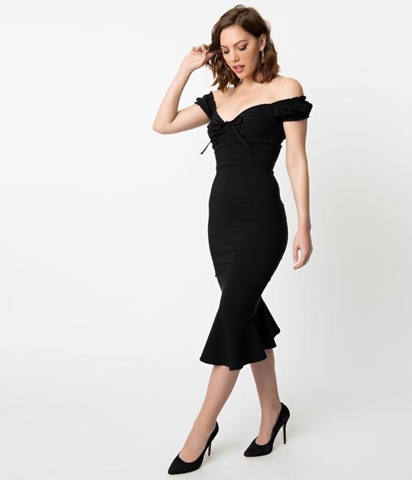 fishtail wiggle dress